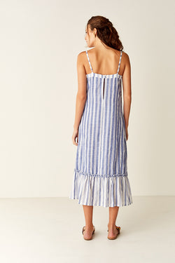 Midi Sundress - Blue / White Stripe