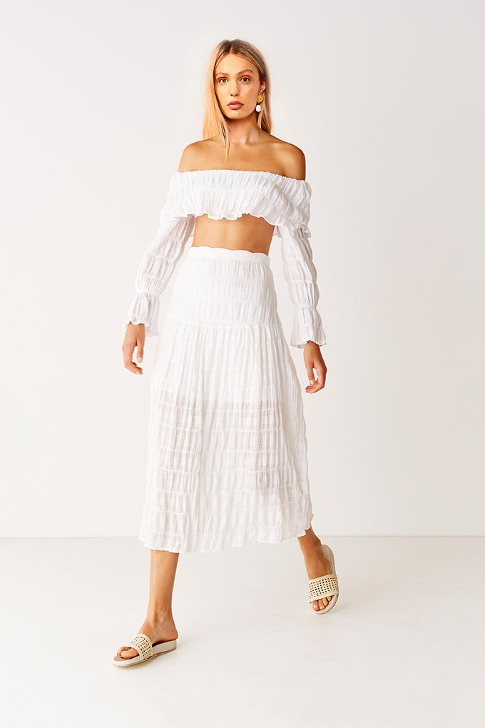 Off Shoulder Top - White