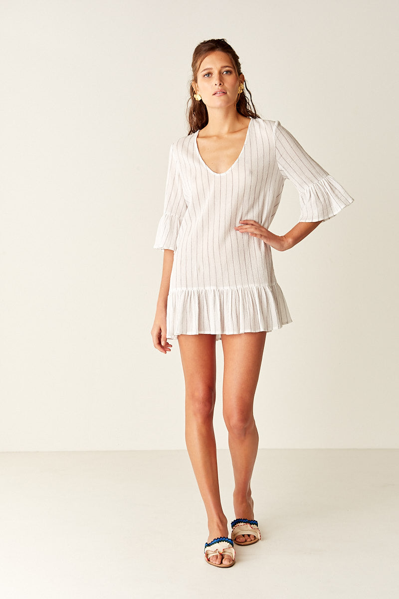Kaftan - WHITE STRIPE