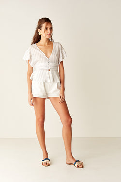 High Waisted Short - WHITE