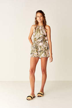 Playsuit - Pink Palm
