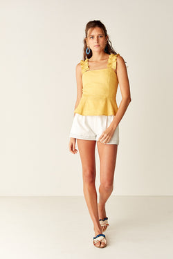 Ruffled Bodice - YELLOW