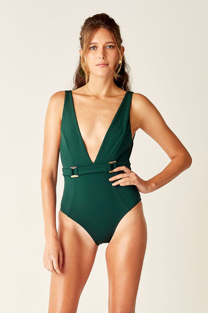 Belted One Piece - Forest
