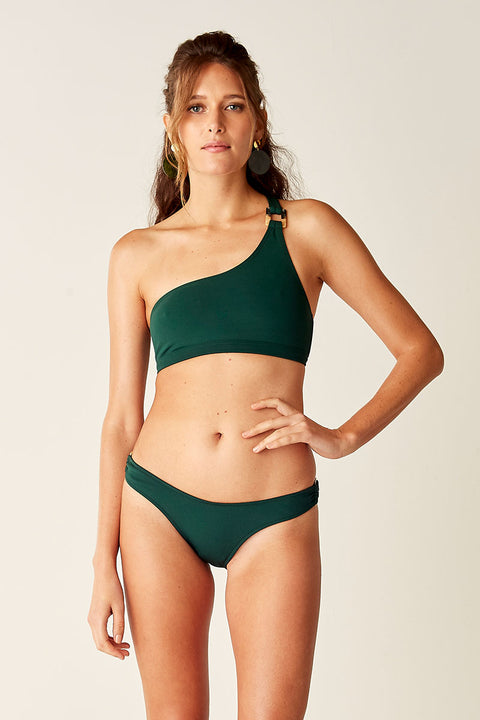 One Shoulder Bikini Top - Forest
