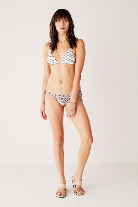 Reversible String Bikini Top - This Love - Leopard