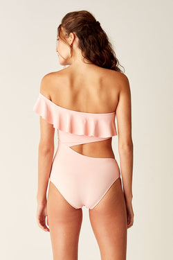 One Shoulder One Piece - Pink