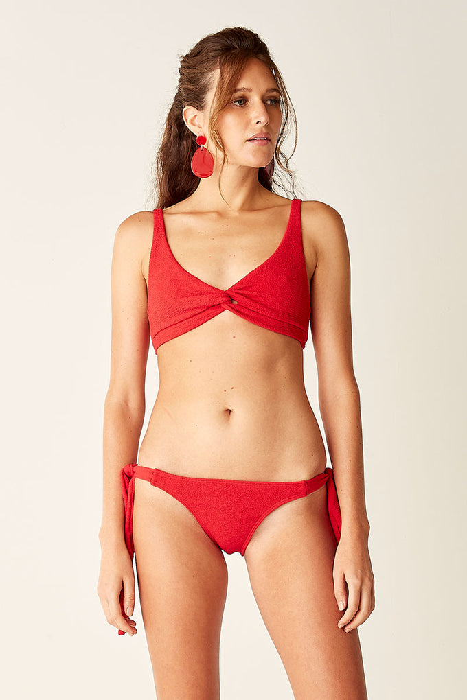 Twist Front Bralette - Red