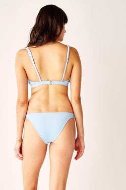 Bow Front C.D Bikini Top - Terry Blue