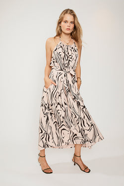Ada Halter Neck Maxi Dress