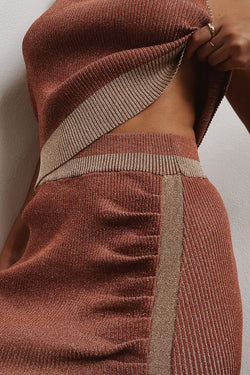 Leah Knit Skirt - Rust