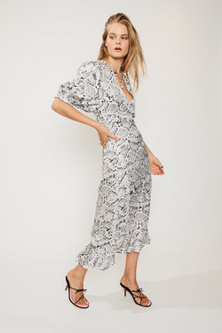 Rosetti Balloon Sleeve Midi Dress