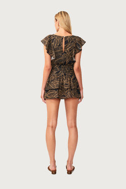 Zephora Ruffled Mini Dress - Zephora Print