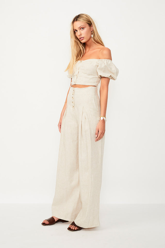 Wanderer High Waisted Pant - Beige