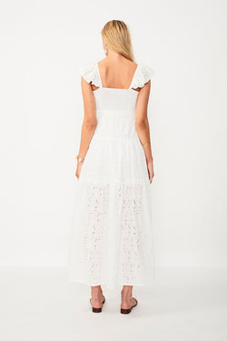 Azalea Ruffled Maxi Dress - White