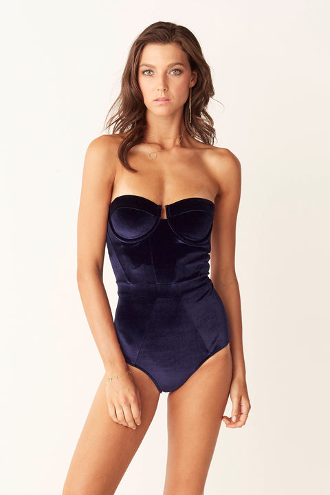Underwire One Piece - Indigo Velvet