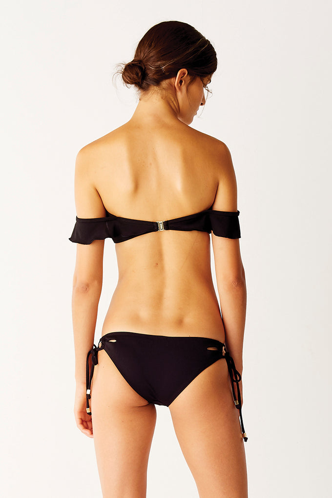 Tie Side Bikini Bottoms - Black