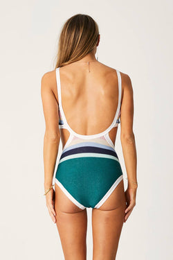 Lace Front Cut Out One Piece-Paradiso