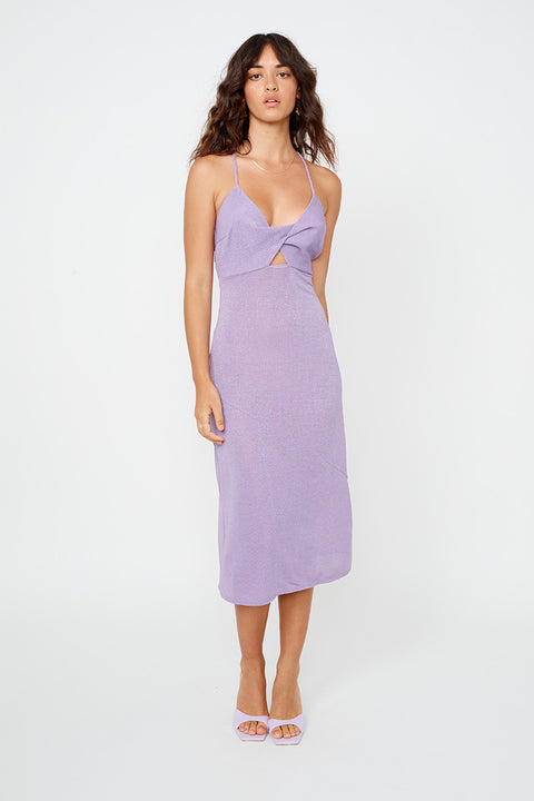 Asha Twist Front Slip Dress - Lilac *PRE-ORDER*