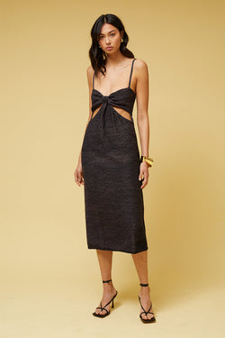 Billie Cut Out Midi Dress - Black