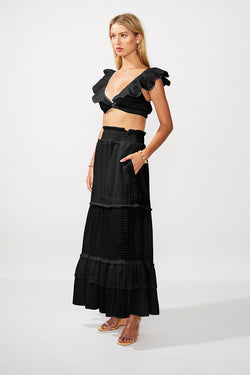 The Crossing Maxi Skirt - Black