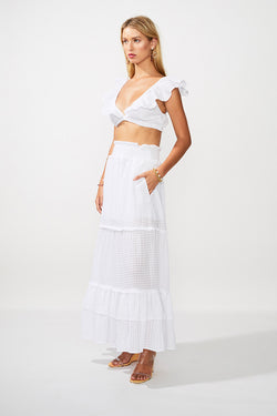 The Crossing Crop Top - Ivory