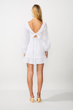The Crossing Twist Front Mini Dress - Ivory