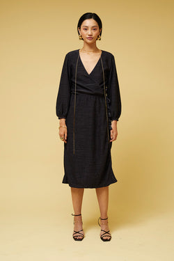 Dominique Maxi Wrap Dress