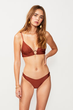 Gaby Ring Side High Cut Bottom - Copper