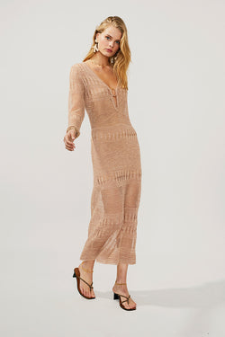Harper Knit Kaftan Midi Dress