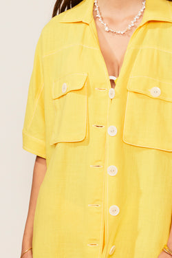 Ines Linen Button Shirt