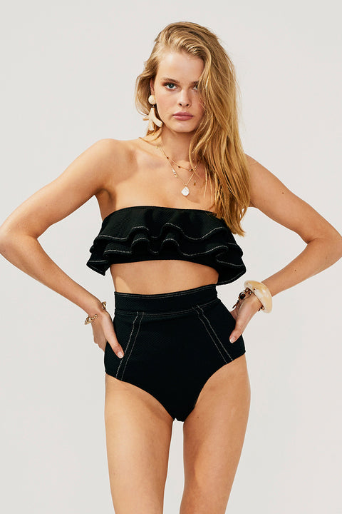 Kaia High Waisted Bottom-Black - PRE-ORDER
