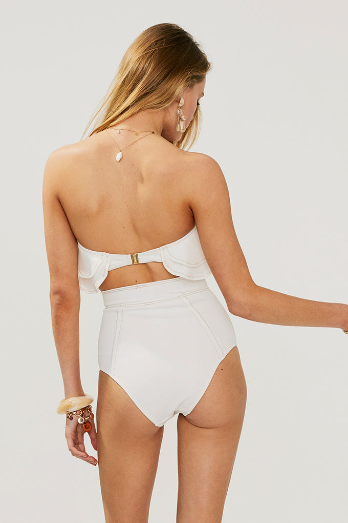 Kaia High Waisted Bottom-Ivory