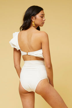Kaia High Waisted Bottom- Ivory *PRE-ORDER*