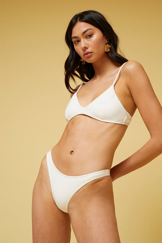 Kaia Slim Bottoms - Ivory