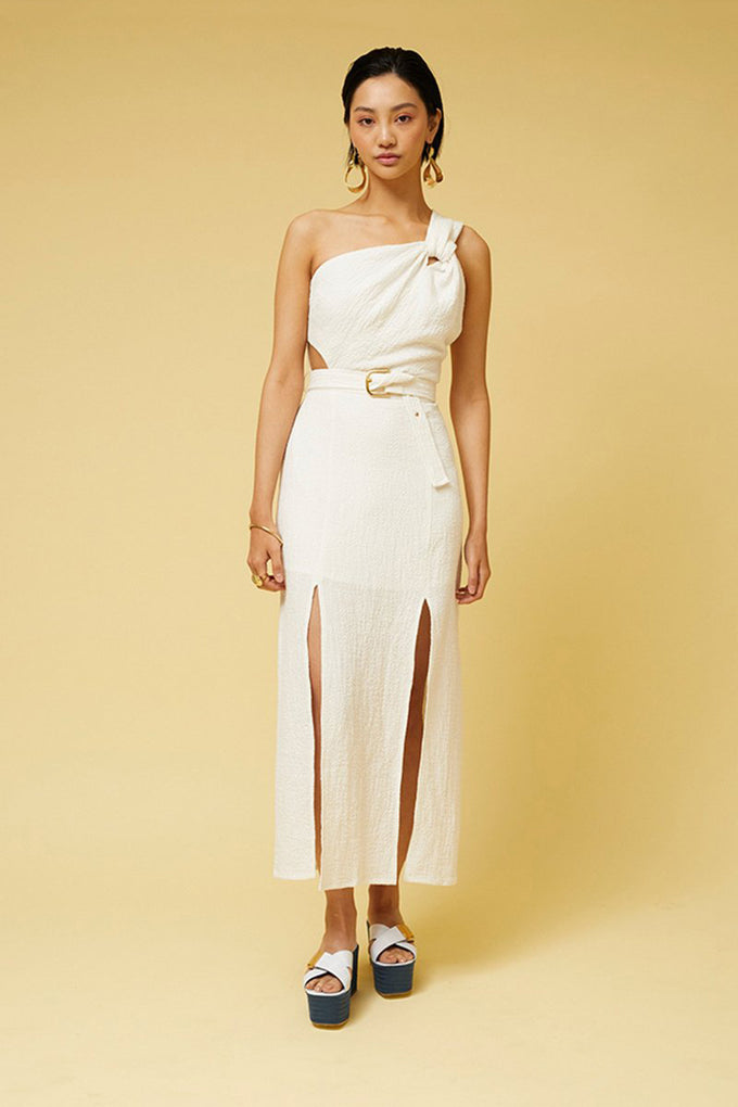 Kaia Twist Maxi Dress - White