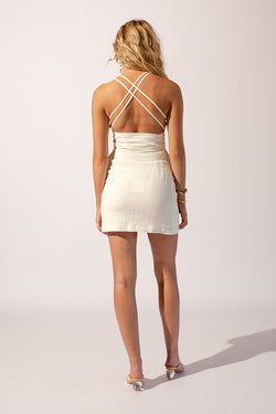 Kaia Bamboo Ring Backless Top