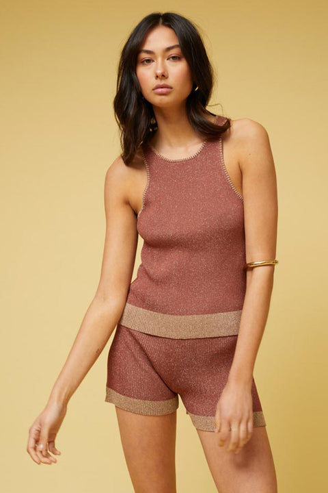 Leah Knit Short - Rust