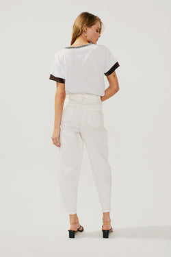 Lou Metallic Contrast Panel T-Shirt