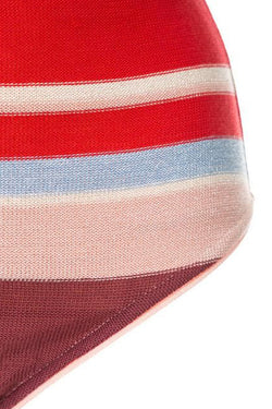 Midsummer Knitted High Waisted Bottoms - Pink/Red Stripe