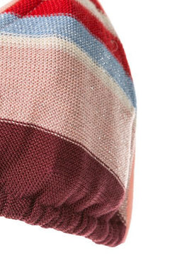 Midsummer Knitted Triangle Top - Pink/Red Stripe
