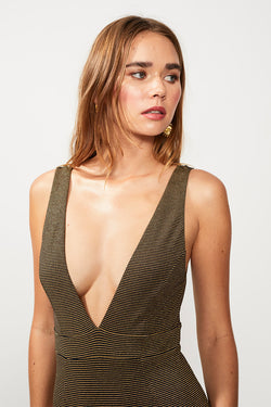 Nadia One Piece - Black/Gold Strp