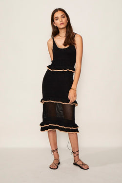 Mimi Knit Ruffle Dress