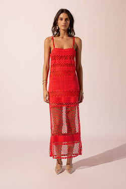 Stella Crochet Maxi Dress