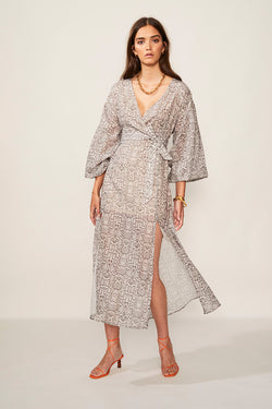 Sylvie Balloon Sleeve Maxi Dress