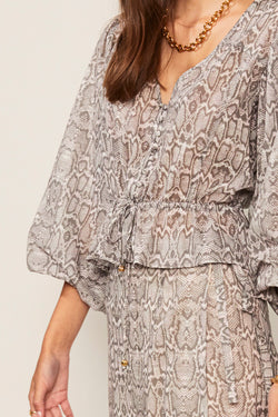 Sylvie Balloon Sleeve Button Blouse