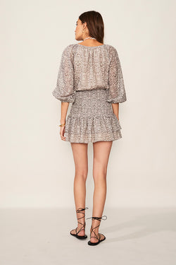 Sylvie Shirred Waist Mini Dress