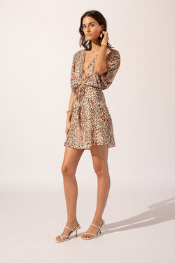 Uma Balloon Sleeve Mini Dress