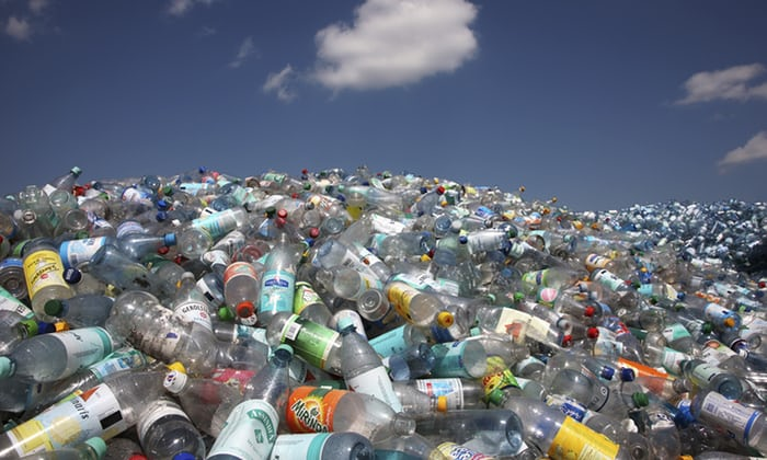 How many plastic bottles are thrown away?