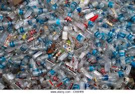 Piles and piles of water bottles