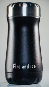 Black - Fire and Ice bottles. Reusable bottle. BPA free. cool designs
